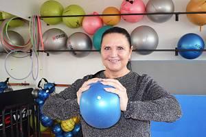 Lounská trenérka aerobiku Jitka Hofmannová.