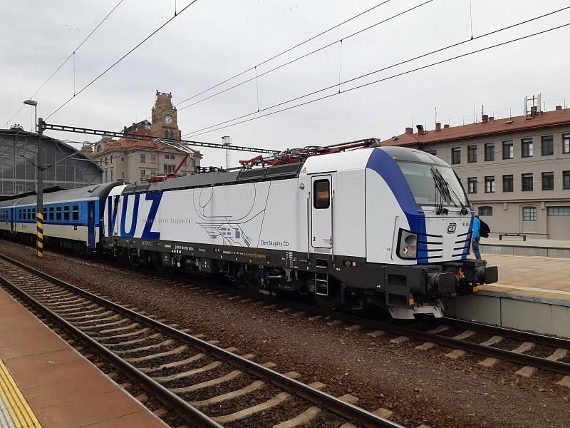 Lokomotiva Siemens Vectron.