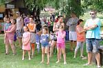 Veselá sobotní neckyáda v Blšanech u Loun.
