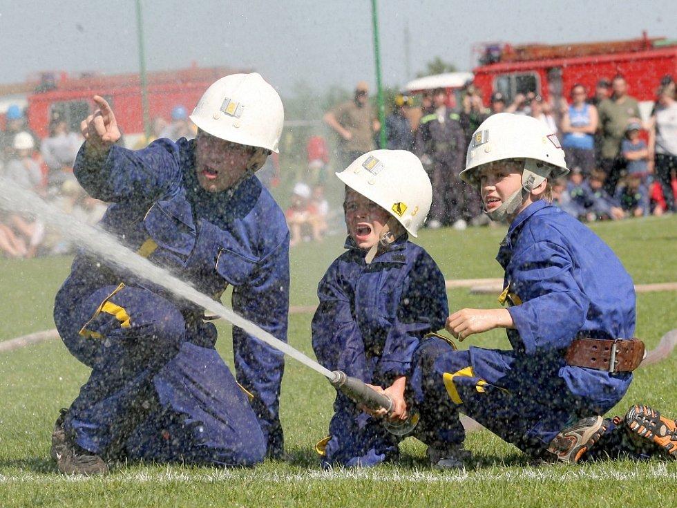 Soutěž mladých hasičů Plamen na podbořanském Tatranu.