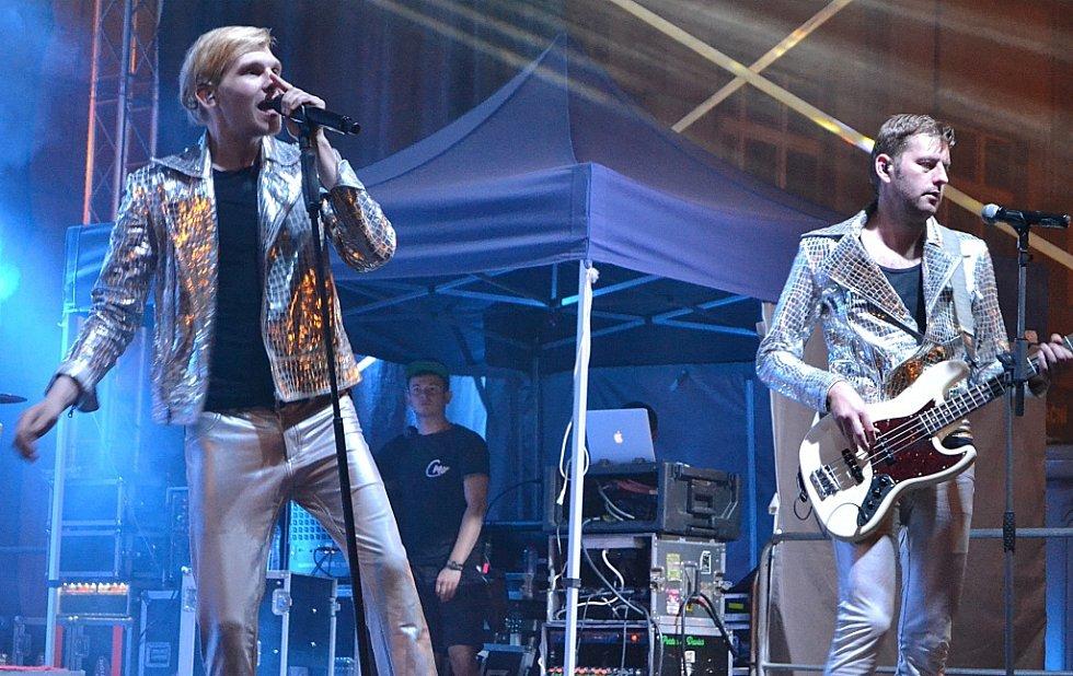 Vystoupení kapely Mandrage, hlavní hudební hvězdy sobotního večera.