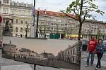 Výstava Bylo tu..., není tu... v ulicích Loun. Zrekonstruované historické pohlednice ukazují, jak konkrétní místa vypadala před desítkami let