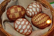 Z výstavy Není vejce jako vejce v muzeu v Lounech
