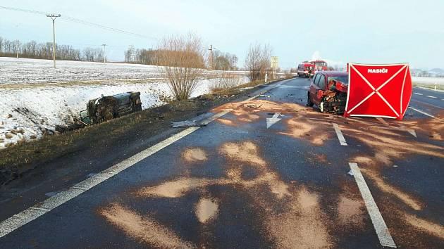 Tragická nehoda u nájezdu na obchvat Sulce nedaleko Toužetína