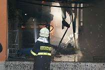 Požár textilní dílny v Lubenci