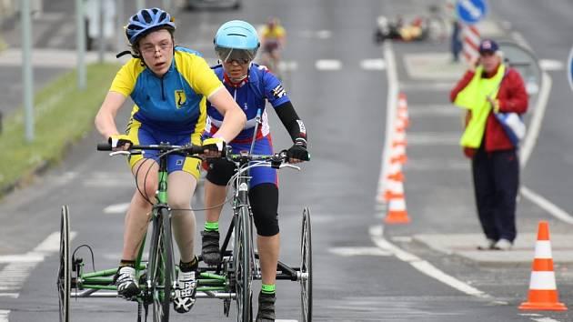 Evropský pohár ručních kol v Lounech. Handicapovaní závodníci na trojkolkách