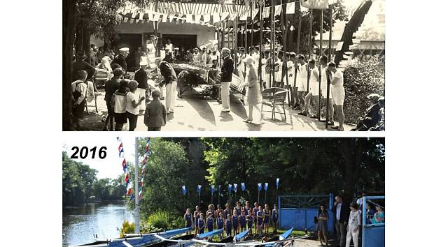 Historická a zcela aktuální fotografie z křestu nových lodí u VKO.
