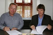 Tomáš Chaloupek (vlevo) a Jan Žalud na archivním snímku