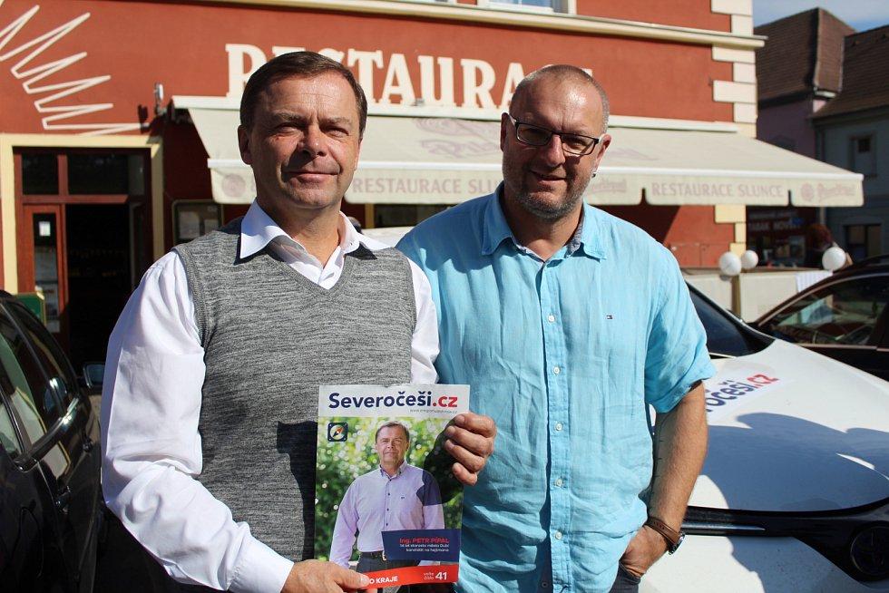 Severočeši s lídrem Petrem Pípalem v Podbořanech