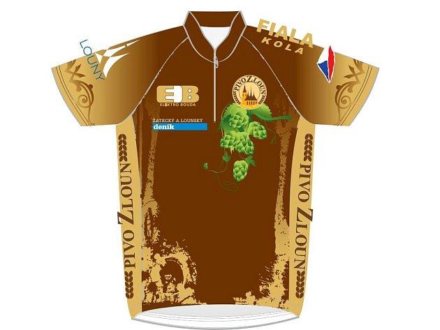 Takto by měl vypadat cyklistický dres v barvách pivovaru Pivo ZLoun