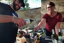 Ochutnávka vín na zámku v Pátku.