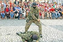 První den Týdne s armádou v Žatci.