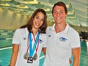 Rok 2013, David Urban s další plaveckou hvězdou Lucií Svěcenou