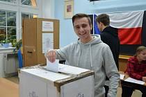 Studentské volby na žatecké Obchodní akademii.
