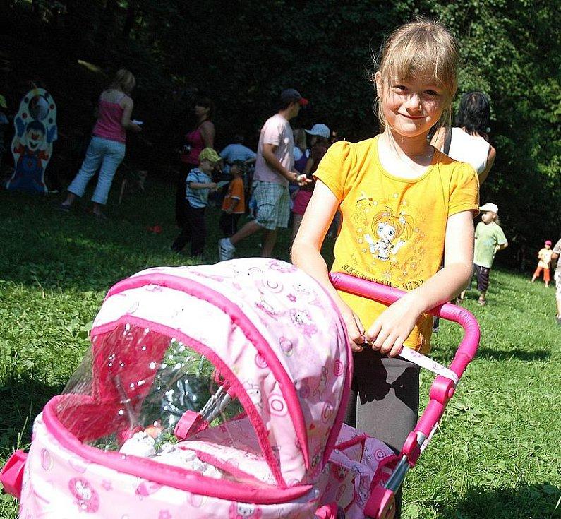 Dětský den v žateckém parku. Na snímku Terezka Dlouhá.