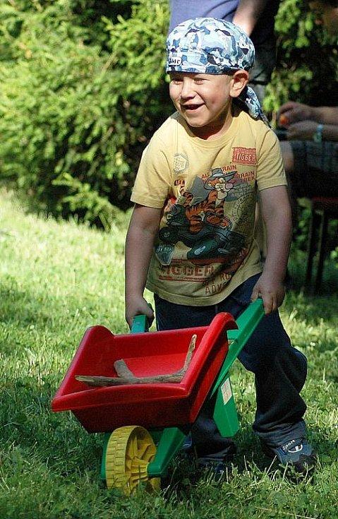 Dětský den v žateckém parku.  Na snímku Jakub Mildner.