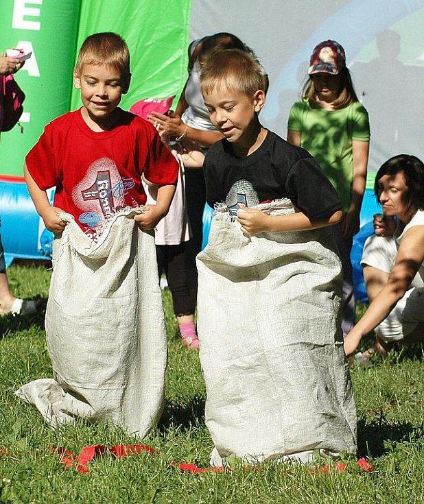 Dětský den v žateckém parku.