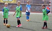 Turnaj fotbalových mladších přípravek na žateckém stadionu Mládí
