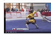 Karel Korenc na šampionátu v Číně na záběru z videa na portálu Youtube.