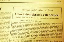 Nastala rozhodná chvíle, noviny v roce 1948 burcovaly k ostražitosti.