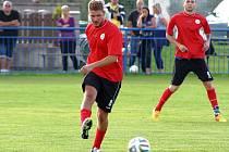 František Lazarik dvě minuty před koncem zápasu s Bílinou rozhodl zdařilým únikem o postupu Dobroměřic do 2. kola poháru.