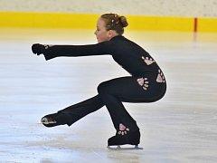 Eliška Witošová na závodech Žebrácká brusle