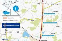 Plánovaný úsek oprav silnice I/28 z Dobroměřic do Odolic