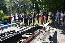 Ve Veslařském klubu Ohře Louny křtili nové lodě.