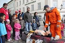 Zábavné dětské odpoledne s Hasičským záchranným sborem na náměstí Prokopa Velikého v Žatci
