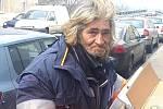 Lounský bezdomovec Jarda.