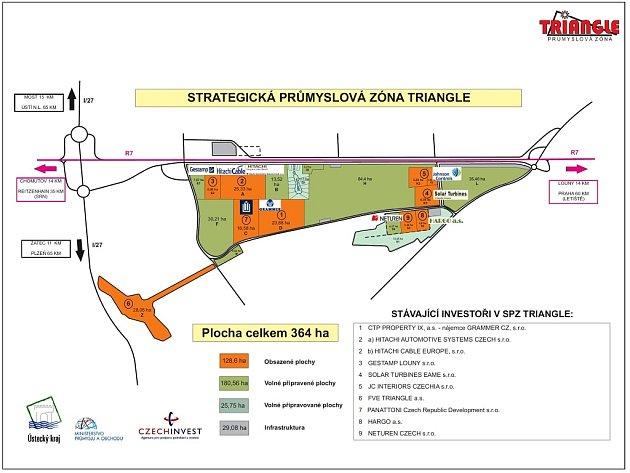 Mapa průmyslové zóny Triangle