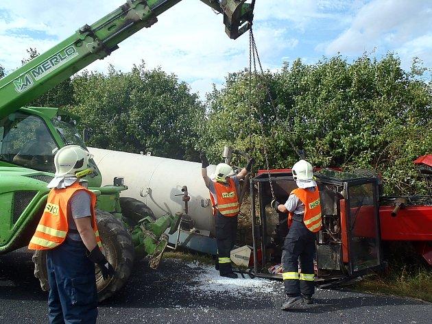 Tragická nehoda traktoru u Žerotína