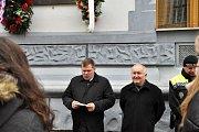 Starosta Loun Pavel Janda (vlevo) a jeho zástupce Vladimír A. Hons