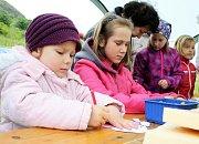 Pro děti byly připraveny tvůrčí činnosti