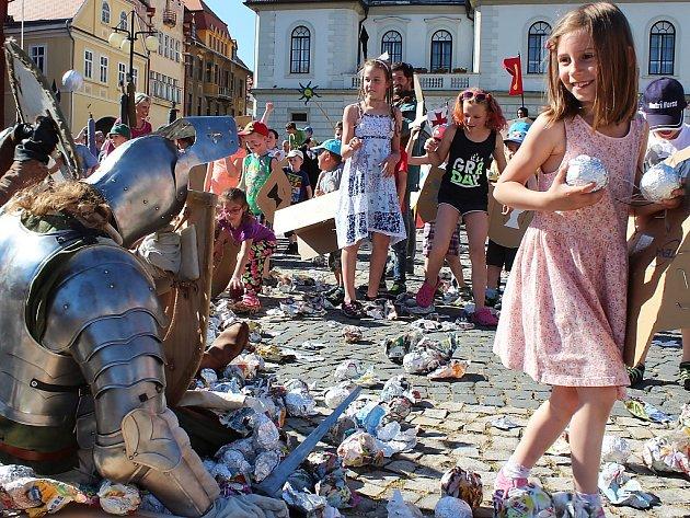 Bitva na náměstí v Žatci.
