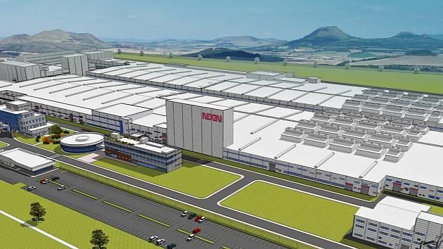 Vizualizace ukazuje, jak by měla továrna Nexenu vypadat