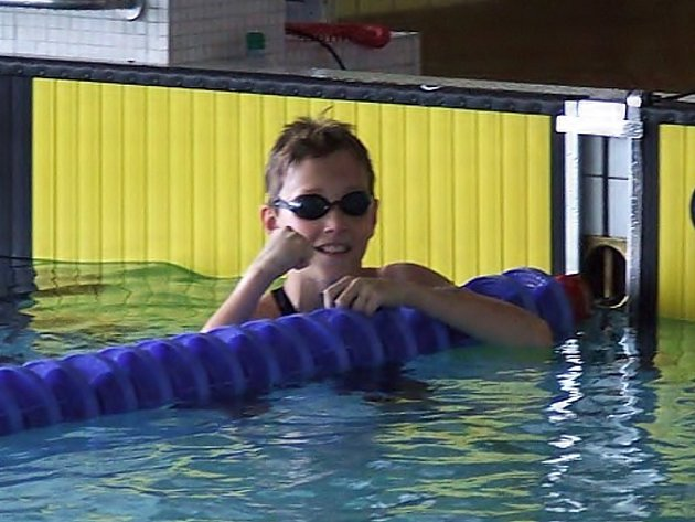 Žatecký plavec David Urban