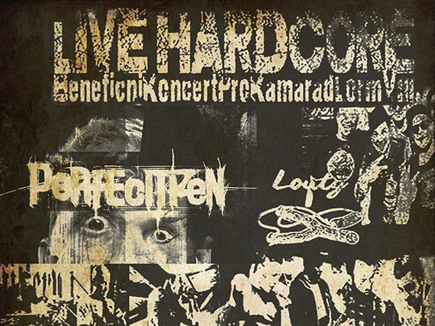 Plakát, který zve na hudební akci na Chaloupce.