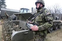 Česko - slovenské armádní cvičení ve výcvikovém prostoru Hradiště v Doupovských horách