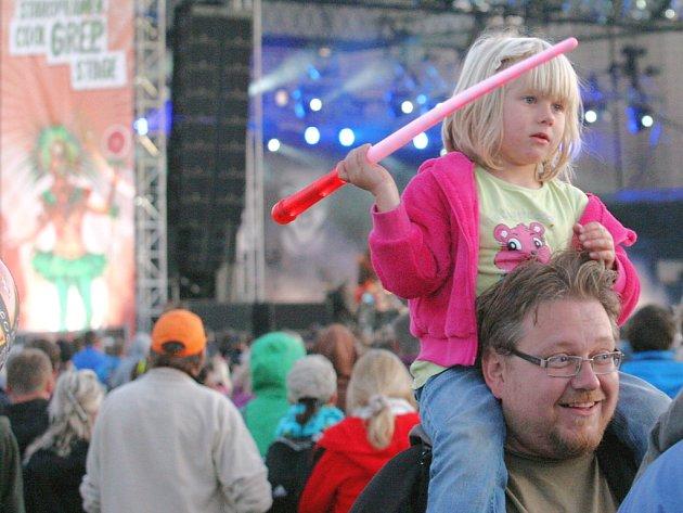 Fanoušci na festivalu Open Air Panenský Týnec.
