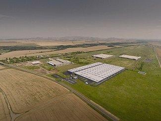 Vizualizace výrobního závodu Kiswire v průmyslové zóně Triangle