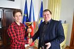 Pavel Jindřich mladší se starostou Loun Pavlem Jandou