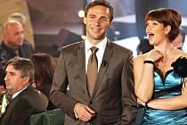 Natáčení zábavného silvestrovského pořadu v Žatci, který za měsíc hned po novoroční půlnoci uvede Česká televize.