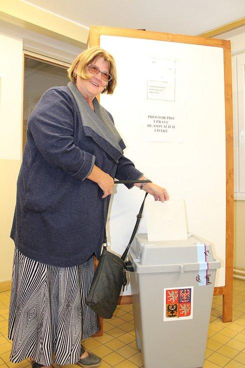 Komunální volby v Žatci, okrsek číslo 7.