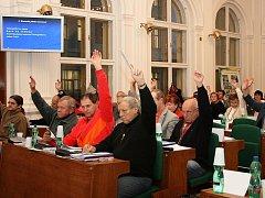 Hlasování zastupitelů v Lounech