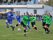 Utkání Loun (v modrém) proti Vilémovu