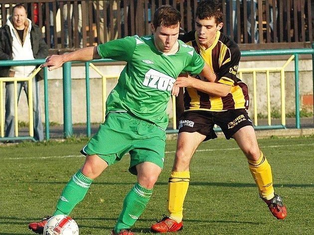 Utkání Žatce (v zeleném) proti týmu Litol