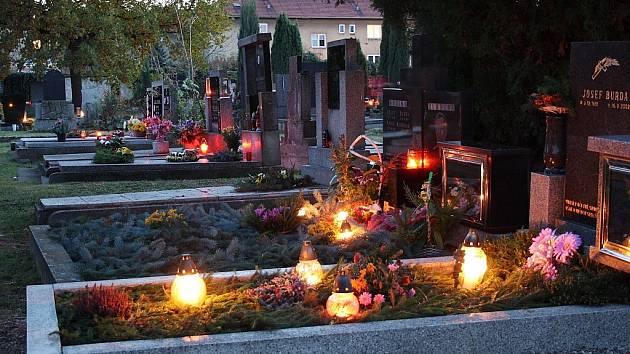 Dušičky na hřbitově ve Staňkovicích