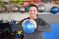 Trenérka aerobiku Jitka Hofmannová