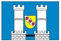 Vyobrazení nové vlajky Městyse Slavětín